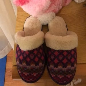 ACORN FAUX FUR LINED SLIPPERS